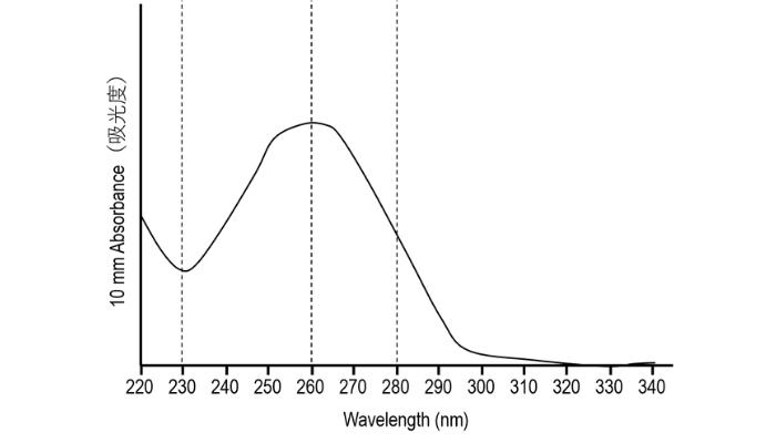 ナノドロップの正常な波形【核酸編】