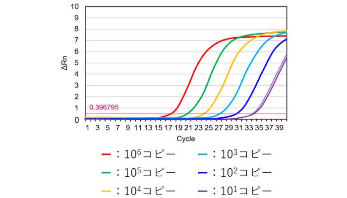 qPCRの結果のグラフ